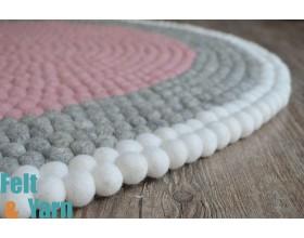 Three-layer Felt Ball Rug
