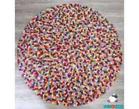 Multicolor Felt Ball Rug