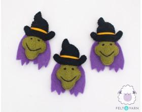 Felt Magical Witch Head for Halloween - Felt & Yarn