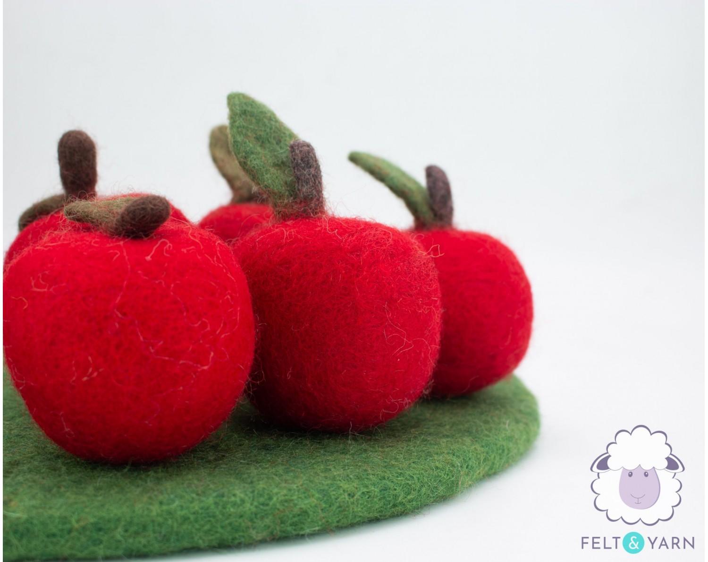 Felt Fruit Set [Red Apples] for Decoration - Felt & Yarn