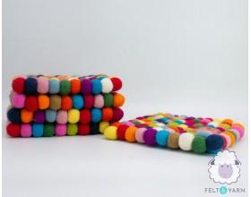20x20cm Multicolor Coaster Set