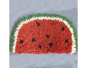 Half Watermelon Felt Shag Rug for Homes - Felt & Yarn