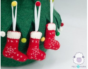 Felted Christmas Stocking for Home Décor - Felt & Yarn