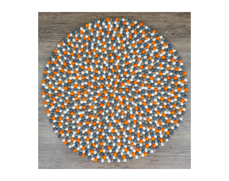 4 Color Round Felt Rug for Homes - Felt & Yarn