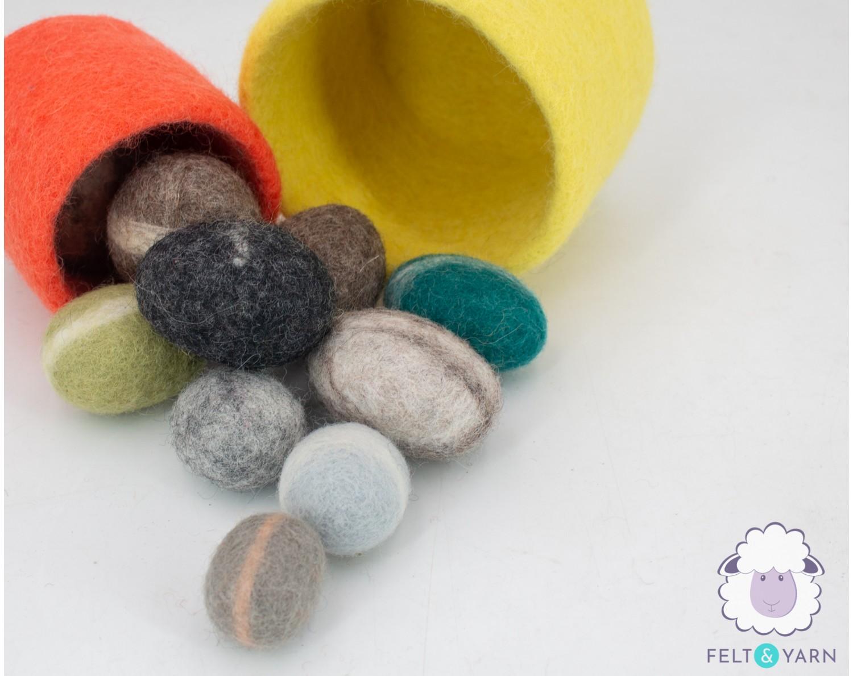 Beautiful Decorative [ Felt Stones ] for Home - Felt & Yarn