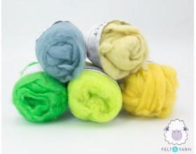 Colorful Felt Wool Roving Pack [100 G] -Felt & Yarn