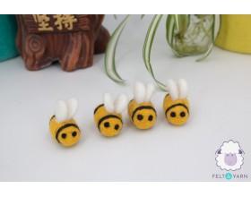 Cute Needle Felted Bee for Home Décor - Felt & Yarn