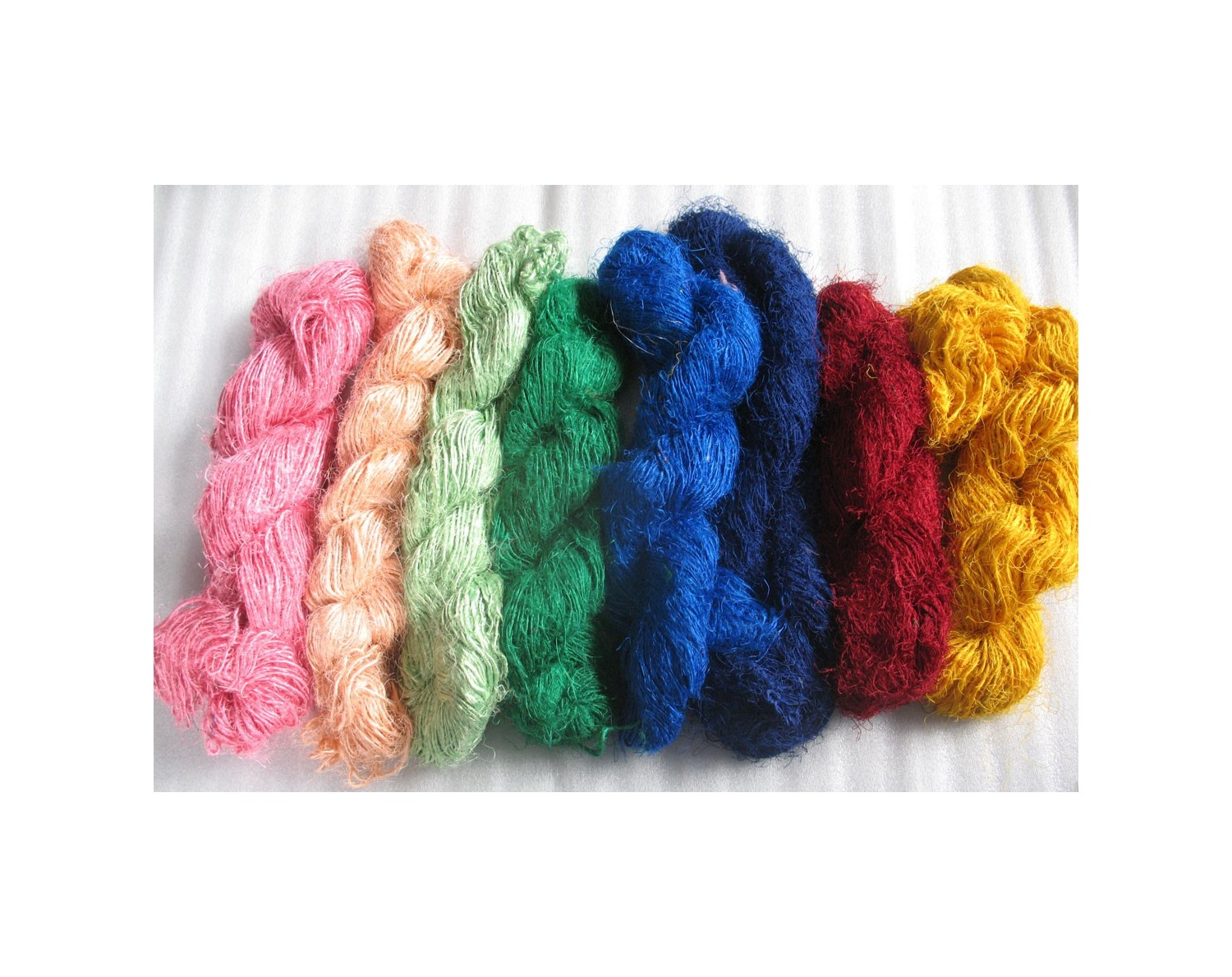Mix Solid color Recycled Silk Yarn Grade B