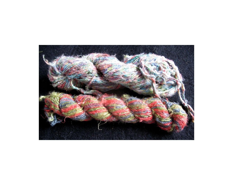Recycled tye dye banana yarn