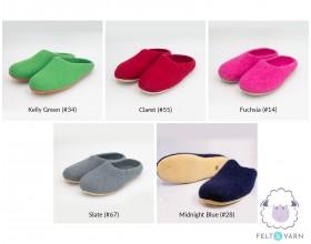 Plain Colored Felt Slippers