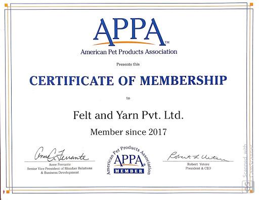 APPA Certificate